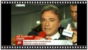 Globo News: oposição critica leilão de Libra