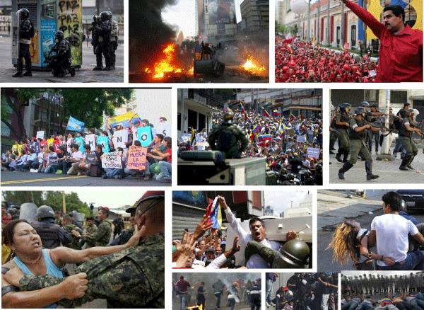 Repúdio à violência do governo Maduro praticada contra o povo venezuelano