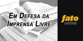 Alvaro Dias faz defesa da imprensa livre e manifesta solidariedade a jornalistas do Fato Online