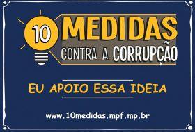 Defesa de urgência, por parte da Câmara, na votação do pacote de dez medidas de combate à corrupção