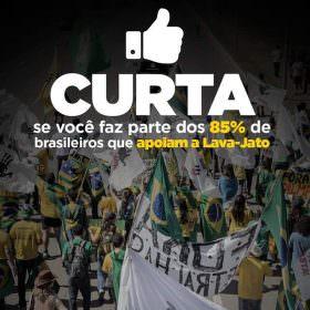 Cresce a quantidade de brasileiros que apoiam a continuidade da operação Lava Jato