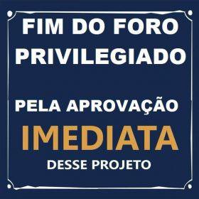 Relator entrega parecer favorável e PEC de Alvaro Dias que acaba com o foro privilegiado já pode ser votada