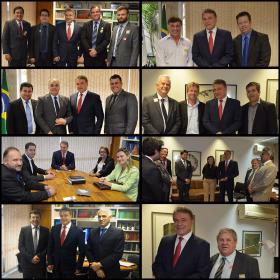 Prefeitos visitam o Senador Alvaro Dias