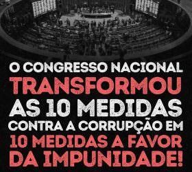 Destruição das dez propostas contra a corrupção foi uma indignidade, afirma Alvaro Dias